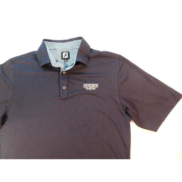 FootJoy Other - FootJoy Heathrow Golf Country Club Polo Shirt Navy